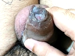 Juicy Cum: Amateur Indian guy playing with jizz (Only for females)