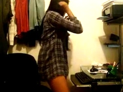Indian Cutie Dancing In Her Parade-ground At Home