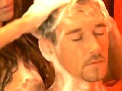Blonde Gives A Handjob Massage