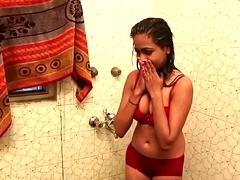 Hot Bathroom Chapter - Lal Chhadi In Bathroom