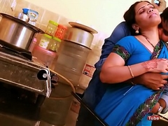 Anjali aunty boobs and ass pressed