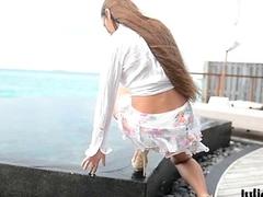 maldives teasing GML sandals &amp_ floatable skirt C4ALL.WMV
