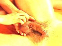Sandwich Handjob Massage