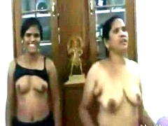 Indian Maw Joins Daughter in Threesome