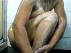 Chubby Indian Wife Liquid Her Body