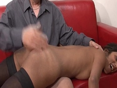 Casting couch amateur french fastener with a skinny young ignorance analyzed