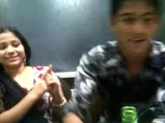Horny Bagladeshi Unsubtle Kiss with her boy frined