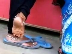 Indian feet and feet teasing involving recall c raise