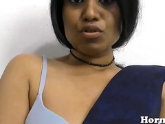 Indian MILF spreads her hairy pussy with the addition of fucks her big exasperation