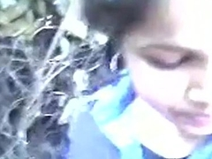Indian college legal age teen in outdoor