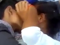 Indian College Group Couples Having Fun Outdoor