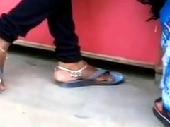 Indian Feet And Feet Teasing In Public