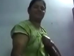 South Indian aunty Succulent hand labour